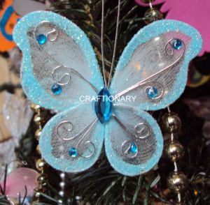 nylon butterfly crafts