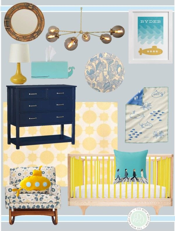 Yellow Submarine nursery inspiration - perfect gender neutral nursery for a boy or a girl!