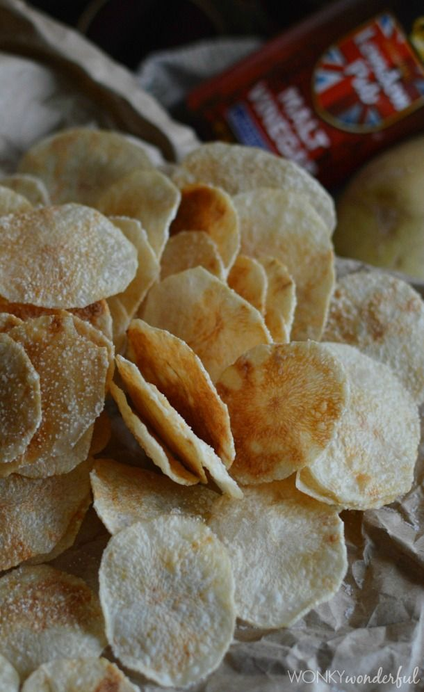 Microwave Potato Chips Salt & Vinegar Flavor - Yep, healthy, crispy chips made in the microwave! wonkywonderful.com