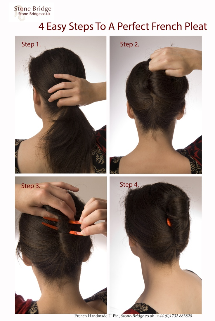 A French Pleat In 4 Easy Steps Beauty Pinterest Hair