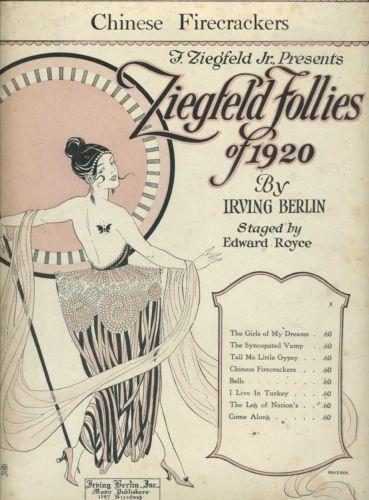 Vintage 1920, Ziegfeld Follies, NYC, www.RevWill.com