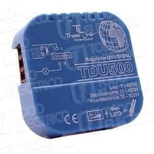 Regulador todo tipo de #bombillas Threeline TDU500 #led #halogenas #bajoconsumo 23,60€ Iva Incluido   Triple función de regulación. Este regulador ofrece la posibilidad de regular tanto halógenas con o sin transformador así como LED mediante un swicht ubicado en su parte trasera, tambien podremos regular lámparas de bajo consumo mientras tengamos la función de memoria deshabilitada. En definitiva el TDU500 lo regula TODO. -