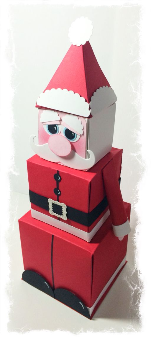 Santa designed and made by Tracey Grundy - Independent Stampin' Up! Demonstrator using the SU! Gift Box Punch Board