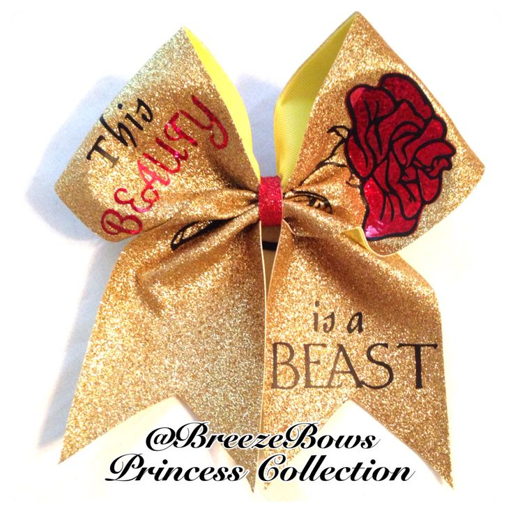 This Beauty is a Beast Cheer Bow by BreezeBows on Etsy, $11.00