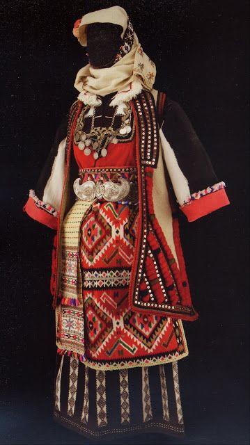 FolkCostume&Embroidery: Costume of Skopska Crna Gora, Macedonia