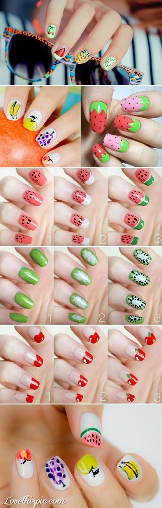 26 Beautiful fruit nail art design