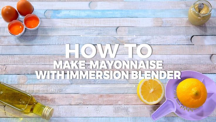 Did you know there is a second method of making mayonnaise? By using an immersion blender.  --------------------- Follow us on: Facebook: http://sodl.co/2dRsH0l Instagram: http://sodl.co/2eMvdCP  Twitter: https://twitter.com/sodlco  Pinterest: http://sodl.co/2jq3kHY