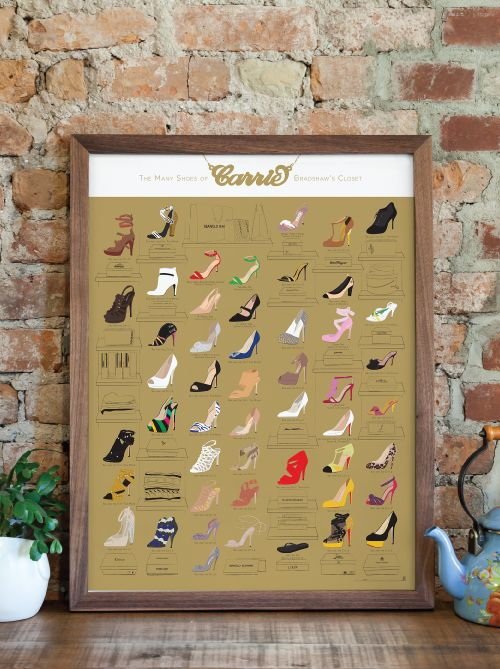 Pop Chart Lab | Design + Data = Delight | The Many Shoes of Carrie Bradshaw's Closet