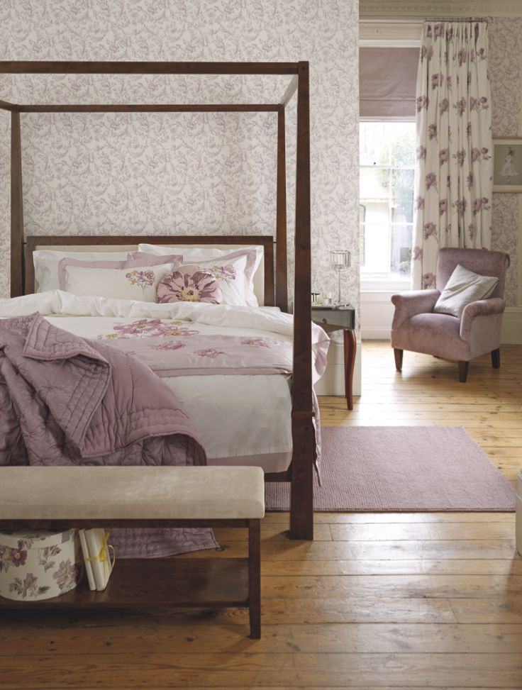 Laura Ashley Peony Amethyst collection.