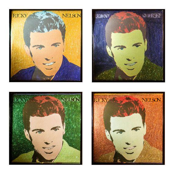 Glittered Ricky Nelson Warhol 4 piece Installation by michel328
