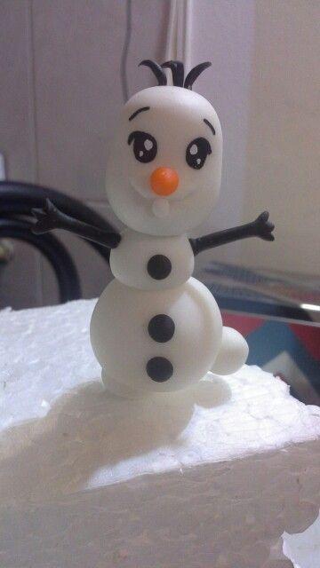 Olaf bebé porcelana fría polymer clay souvenires frozen