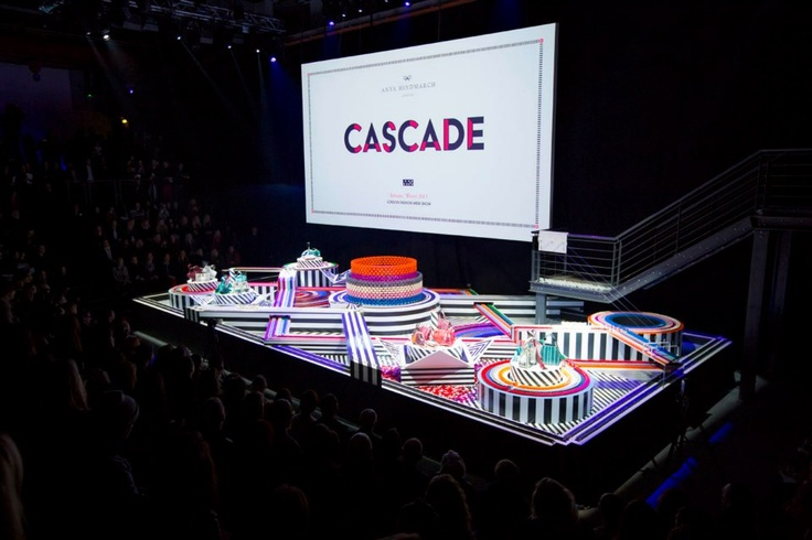 """Cascade"", a colourful set of 50000 dominos pieces to present to the world the beauty of the Anya Hindmarch Fall/Winter bags."