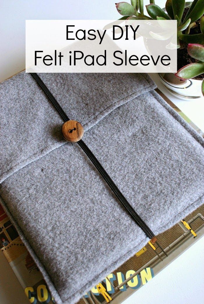Learn how to sew a simple felt iPad or tablet sleeve. Great beginner project! #sewing #felt