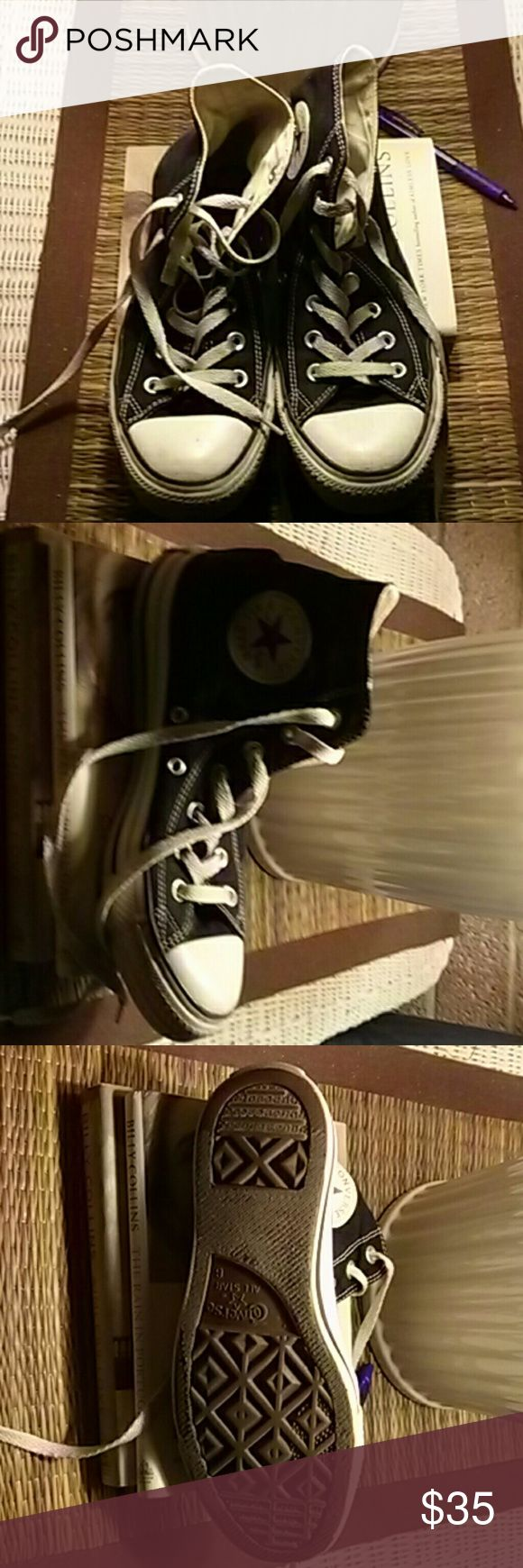 Black Chuck Taylor Converse  size 8 Hardly used. In very good shape Converse Shoes Sneakers