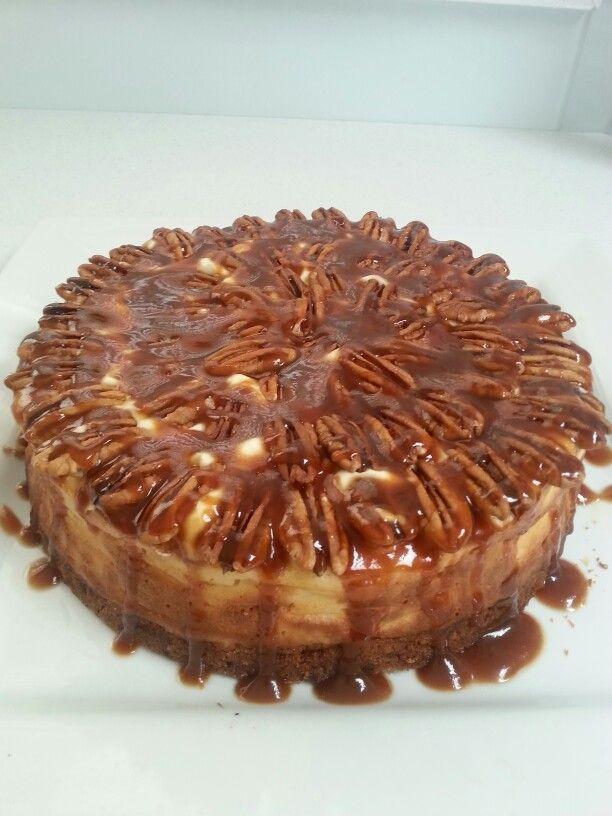 Pecan &salted caramel cheese cake .yum yum yummy..