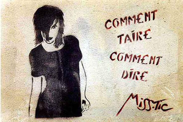 L'important est de s'exprimer. / By Miss Tic, 1997.