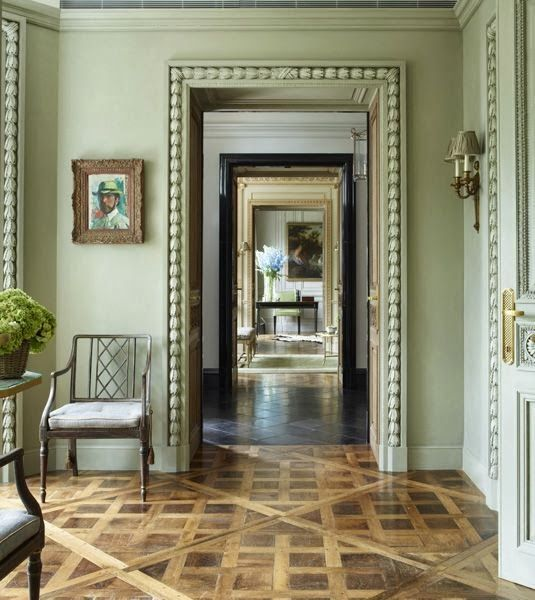 """""""Enfilade"""" perspective of the doors of a classical decored private mansion #enfilade #infilata #interiordesign - More wonders at www.francescocatalano.it"""