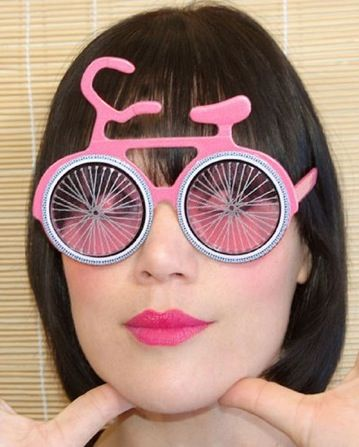 Bicycle glasses in pink