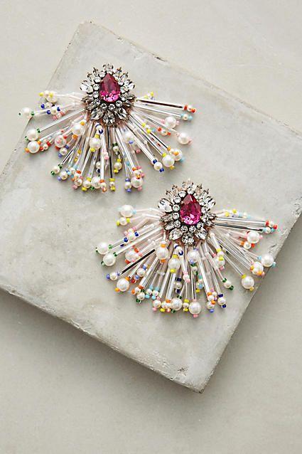 Shourouk Color Burst Drop Earrings
