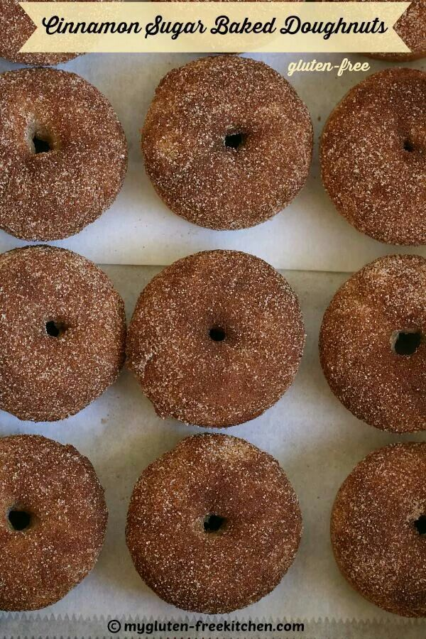 Gluten free cinnamon sugar baked donuts