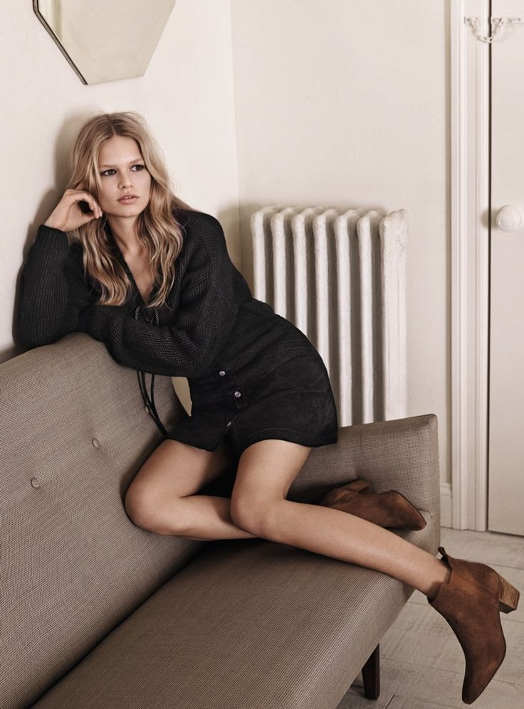 Mango has unveiled the advertisements with German model Anna Ewers by Josh Olins