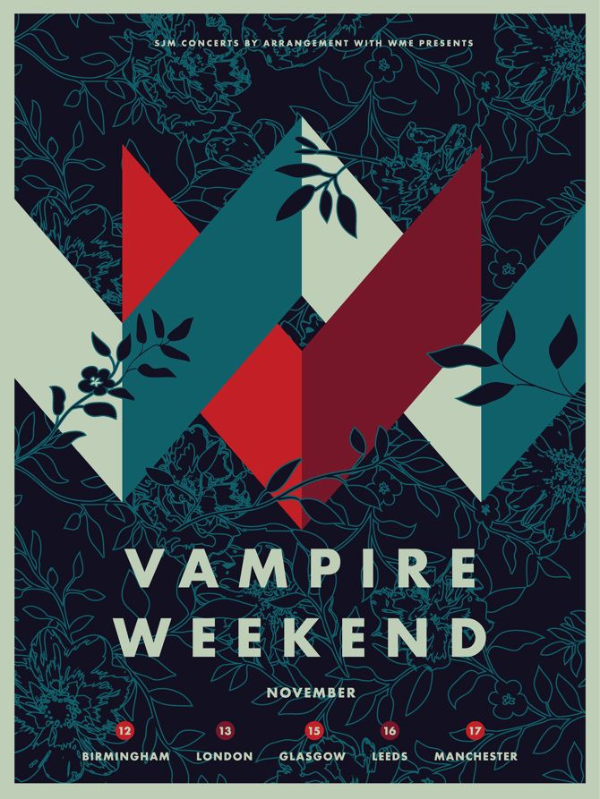 Vampire Weekend - UK 2013 - Aaron Gresham // Creative Director + Brand Designer