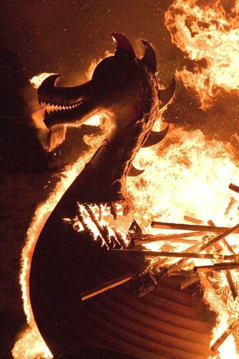 Up Helly Aa is Shetland's famous fire festival, celebrating the Islands Norse Heritage, on the last Tuesday of January. A Viking longboat is built and set alight in the centre of Lerwick before a night of festivities begin!