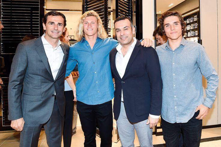 Pedro de la Rosa, Liam Whaley and Tiago Baptista