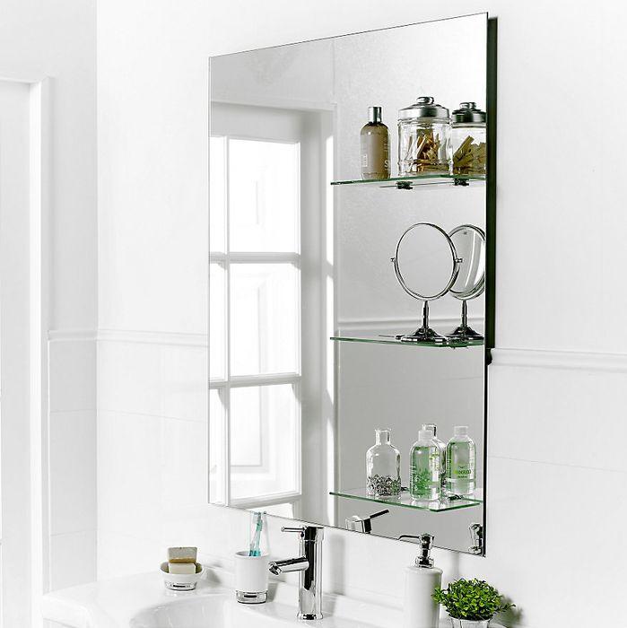 Los espejos con organizadores son una tendencia que nos ayuda a organizar y mantener un espacio más ordenado. #Baño #Espejos #Decoración #Homecenter #Sodimac