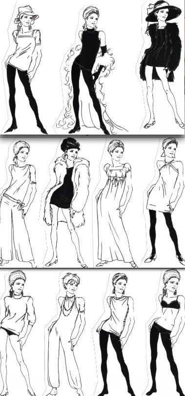 Classic Edie Sedgwick fashions