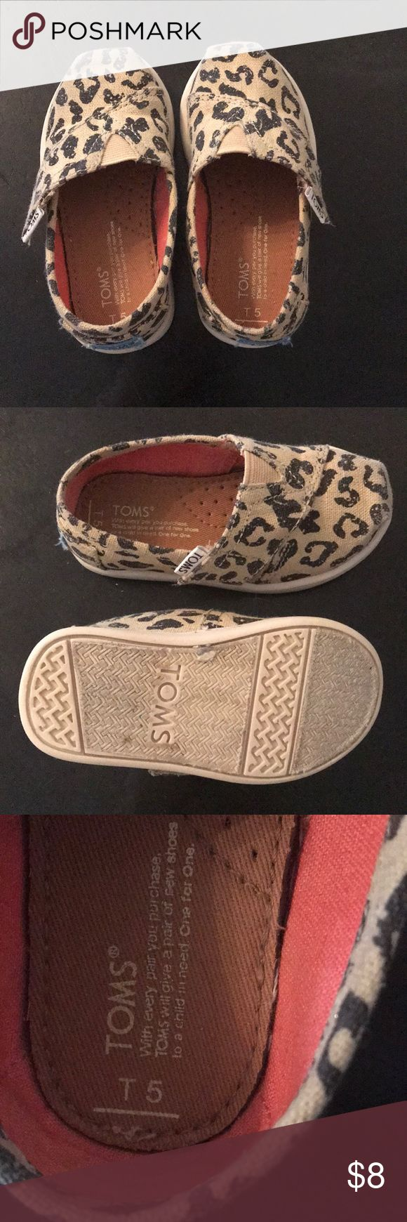 Toms 5T Cute leopard toms. Only worn a few times. Shoes