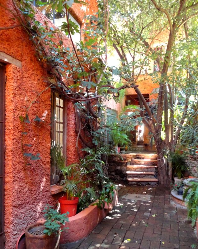 Entrance garden Tres Casitas San Miguel 184 best Mexican Gardens images on Pinterest  courtyard