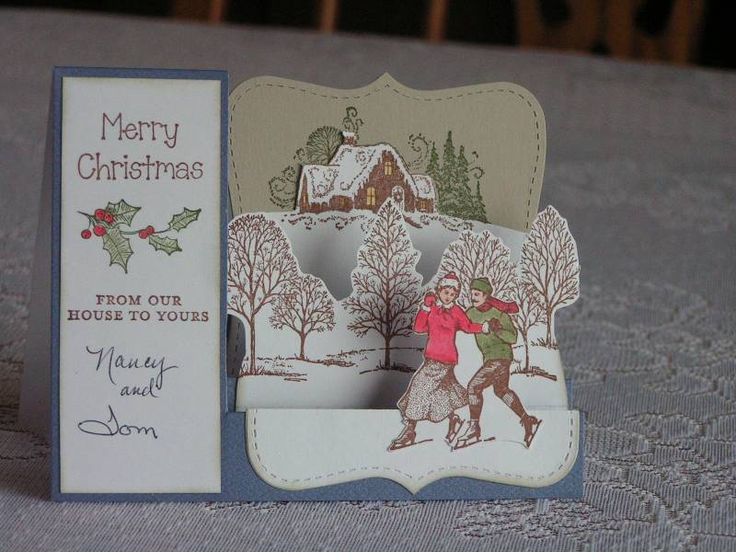 how to make christmas cards step by step at home