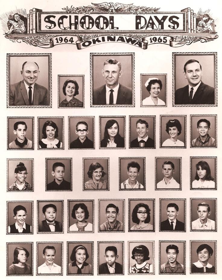 19641965 Class Picture, Naha Jr. High School, Okinawa