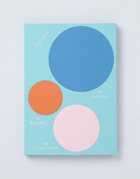 Made Thought for GF Smith's Colorplan line of papers. Sample Book