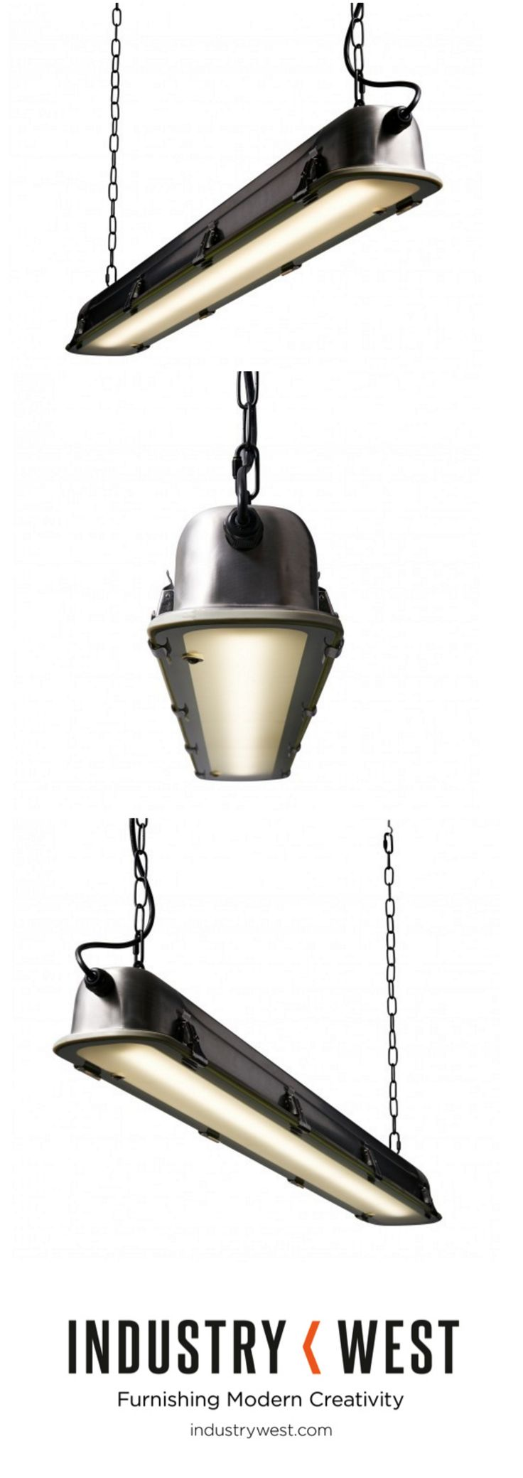 "Matt black metal canopy, black textile cable, stainless steel lamp shade with tempered glass cover. Specifies (1) T8 bulb at a length of 47.17"". Bulb not included."
