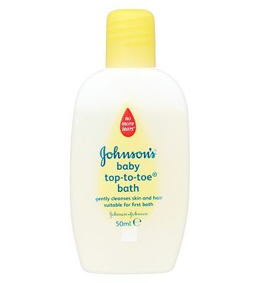 Johnsons Baby Top-To-Toe Bath - 1 x 50ml 10112540 4 Advantage card points. Johnsons Baby Top-To-Toe Bath is a mild all over baby cleansing wash. It is perfect for direct application to skin, for use as a foaming bath and also for washing babys hair.  http://www.MightGet.com/february-2017-1/johnsons-baby-top-to-toe-bath--1-x-50ml-10112540.asp