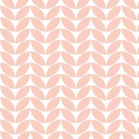 Classic knit, wedding peach on white by Su_G fabric by su_g on Spoonflower - custom fabric