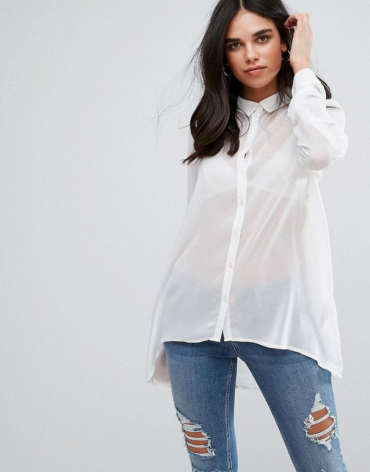 Get this Soaked In Luxury's fitted shirt now! Click for more details. Worldwide shipping. Soaked In Luxury Fowler Shirt - White: Shirt by Soaked in Luxury, Semi-sheer woven fabric, Point collar, Button placket, Dipped hem, Regular fit - true to size, Machine wash, 100% Polyester, Our model wears a UK S/EU 36/US 4. (camisa entallada, entalladas, fit, fitted, schmal geschnittenes hemd, camisa entallada, chemise cintrée, camicia aderente, entallada)