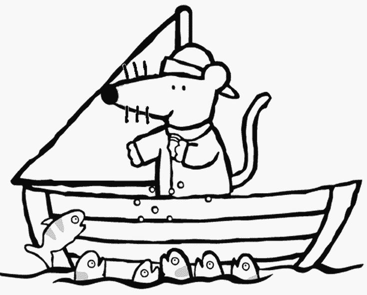 Maisy Coloring Page
