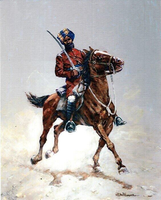 First up is a beautiful image of a Sikh Sowar 4th Bengal Lancers 1900