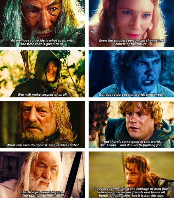 Some of the best lines in all of Lord of the Rings