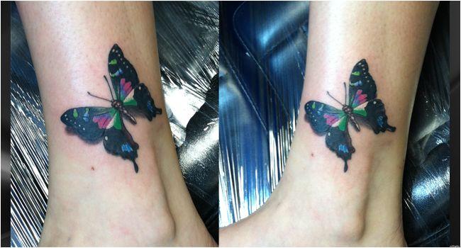 Butterfly Tattoo by Shawn Pierce at Skin Deep Tattoo