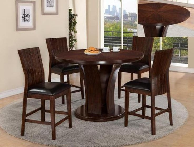 Daria Espresso Pub Counter Height Dining Set