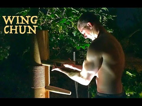 Wing Chun WOODEN DUMMY FIGHT TRAINING Better Than Bruce Lee - Muk Yan Jong - Mu Ren Zhuang - YouTube