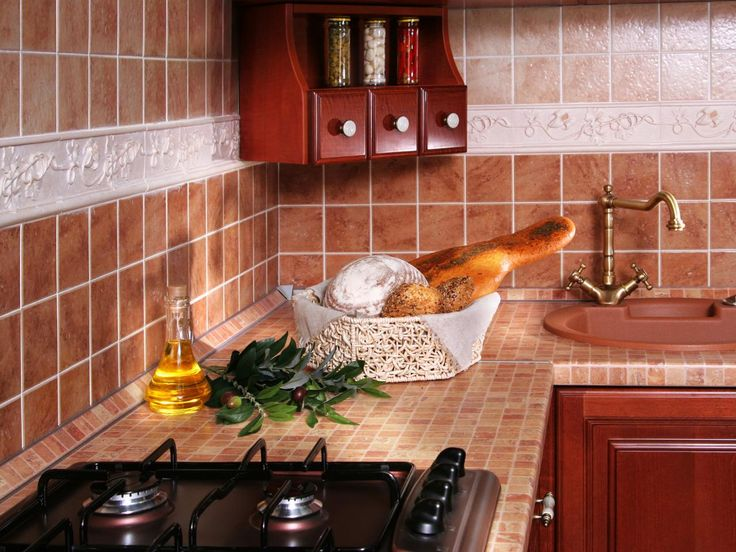Learn how to add a tiled kitchen countertop to your cooking space design with this guide from HGTV.com.