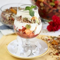 Grain Free Granola and Fruit Salad A Parfait Combination: Free Granola, Grain Free, Fruit Salads, Grains, Perfect, Favorite Recipes, Healthy Recipes Food