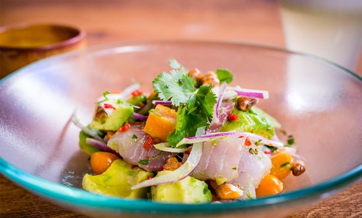 Recipe: Andina's Ceviche. Ever wanted to make your own ceviche? Top Peruvian restaurant, Andina, share their signature Ceviche Andina recipe. The intricate dish uses sea bass, avocado and sweet potato and is not as hard to make as it looks.