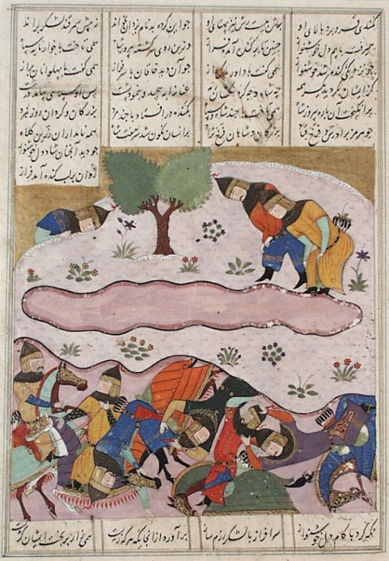The Discomfiture and Death of Piroz, Page from a Manuscript of the Shahnama (Book of Kings) of Firdawsi | LACMA Collections