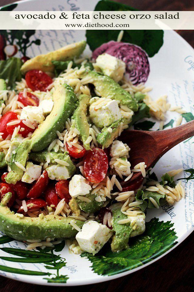 Avocado and Feta Cheese Orzo Salad